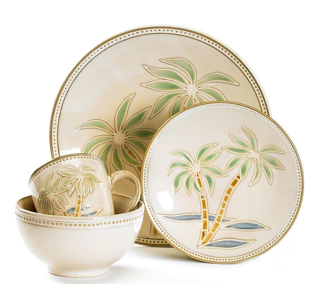 Palm Tree Dinnerware Set  sc 1 st  Bealls Florida & Pfaltzgraff 16-pc. Palm Tree Dinnerware Set | Bealls Florida