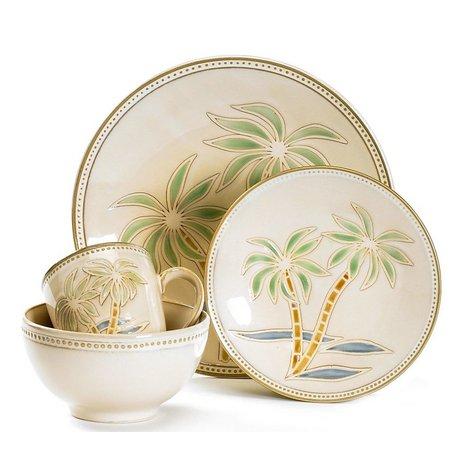Pfaltzgraff 16 Pc Palm Tree Dinnerware Set Bealls Florida