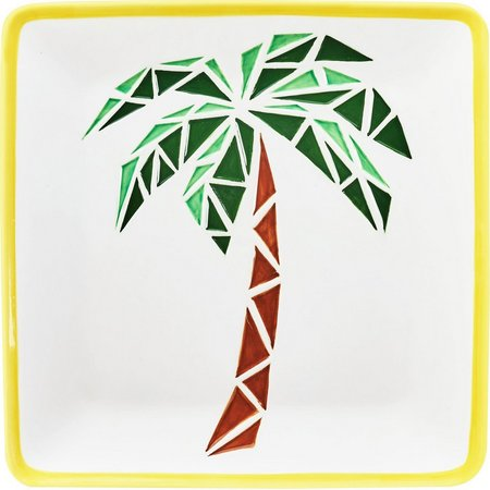 Global Amici Paradise Palm Tree Ceramic Platter