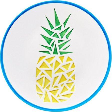New! Global Amici Paradise Pineapple Ceramic Platter