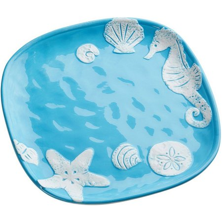 Global Amici Light Blue Sea Life Dinner Plate