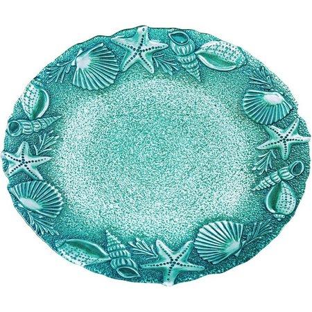 Global Amici Seashells & Starfish Round Platter