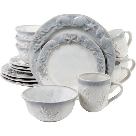 Gibson 16-pc. Elite Seashore Bay Dinnerware Set