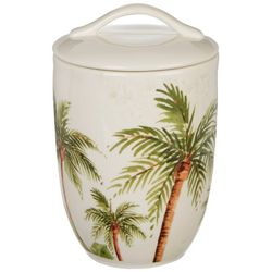 Gibson Palm Tree Covered Canister