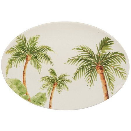 Gibson Palm Tree Oval Plate