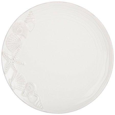 Coastal Home Round Seashell Dinner Plate