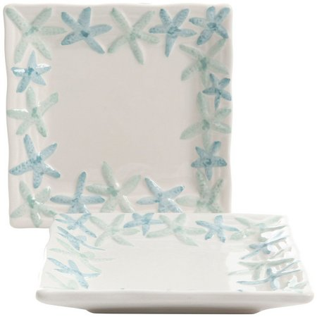 Coastal Home 2-pc. Starfish Appetizer Plate Set