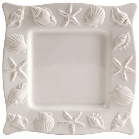 Coastal Home Shell Square Salad Plate