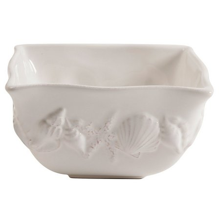 Coastal Home Shell Square Bowl