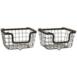 Gourmet Basics by Mikasa 2-pc. Stacking Baskets