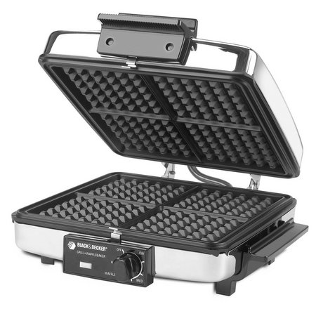 Black & Decker G48TD Chrome 3-in-1 Waffle Maker