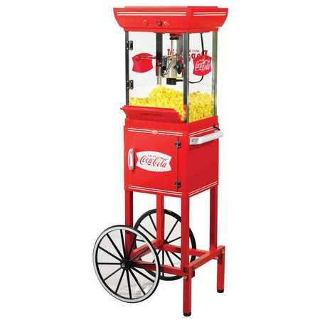 Nostalgia Electrics Coca-Cola Series Popcorn Cart