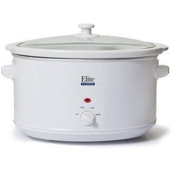 Elite Cuisine 8.5 qt. White Slow Cooker