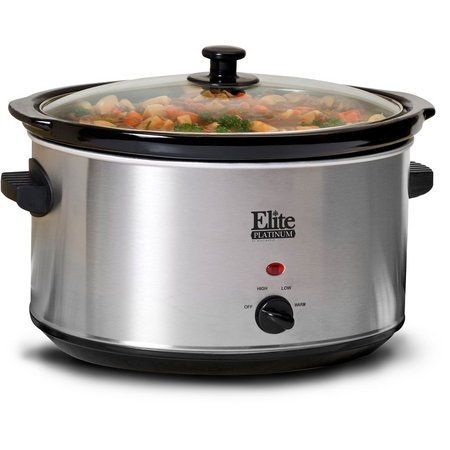 Elite Platinum 8.5 qt. Stainless Steel Slow Cooker