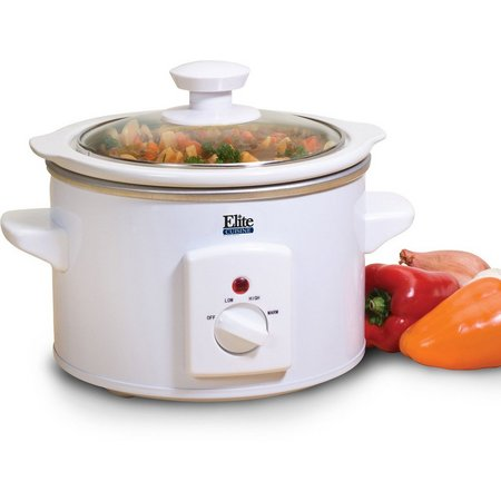 Elite Cuisine MST-250XW 1.5 qt. Round Slow Cooker