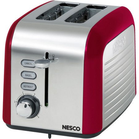 Nesco T1000-12 Everyday 2 Slice Toaster Red/Chrome