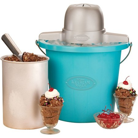 Nostalgia Electric 4 qt. Blue Ice Cream Maker