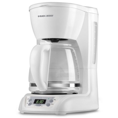 Black & Decker White Programmable Coffee Maker