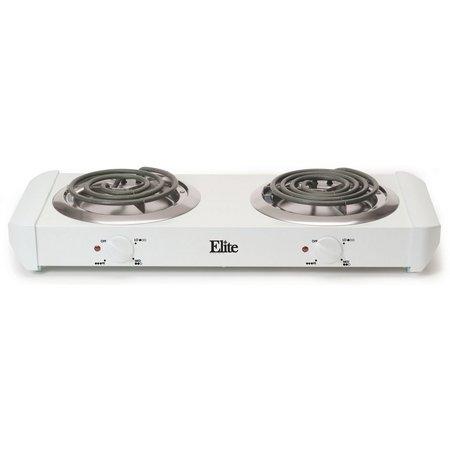 Elite EDB-302 Double Burner Coil Hot Plate