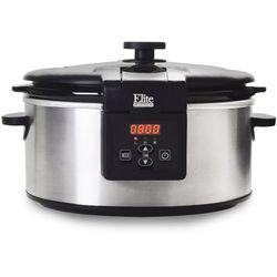 Elite MST-6013D 6 qt. Stainless Steel Slow Cooker