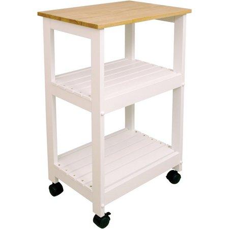 Catskill Craftsmen White Kitchen Cart