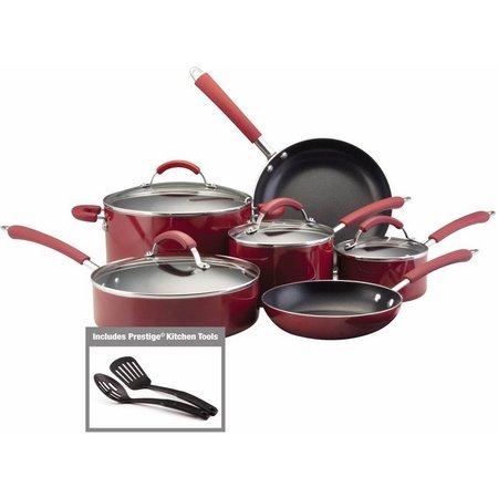 Farberware Millennium 12-pc. Red Cookware Set