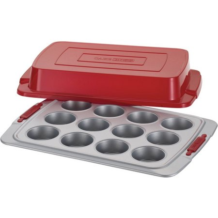 Cake Boss Deluxe 12 Cup Covered Muffin Pan