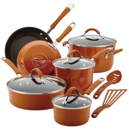 Rachael Ray 12-pc. Pumpkin Enamel Cookware Set