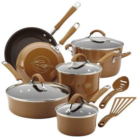 Rachael Ray 12-pc. Mushroom Enamel Cookware Set