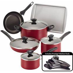 Farberware 15-pc. Nonstick Red Cookware Set