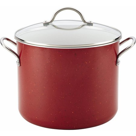 Farberware 12 qt. Red Speckled Covered Stockpot