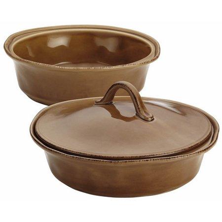 Rachael Ray 3-pc. Mushroom Round Baker & Lid