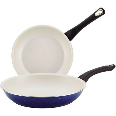 Farberware 2-pc. Blue Nonstick Skillet Set