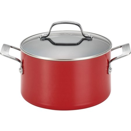 Circulon Genesis 4.5 qt. Red Covered Dutch Oven