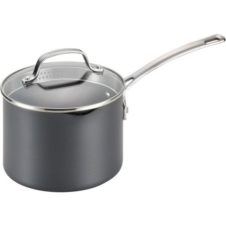 Circulon Genesis 3 qt. Covered Straining Saucepan