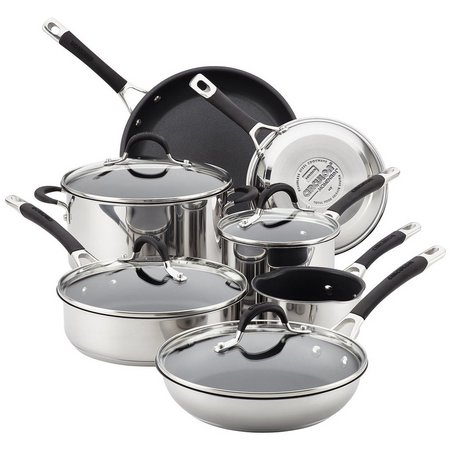 Circulon Momentum Stainless 11-pc. Cookware Set