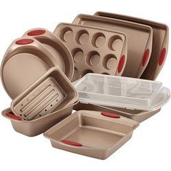 Rachael Ray Cucina 10-pc. Latte Brown Bakeware Set