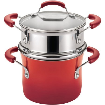 Rachael Ray 3 qt. Covered Enamel Steamer Set