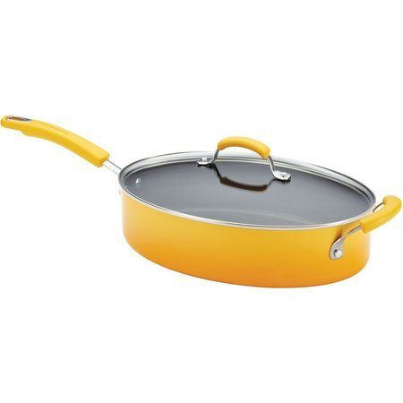 Rachael Ray 5 qt. Covered Nonstick Oval Saute