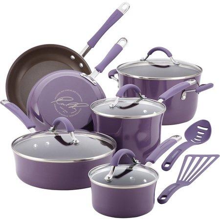 Rachael Ray 12-pc. Enamel Cookware Set