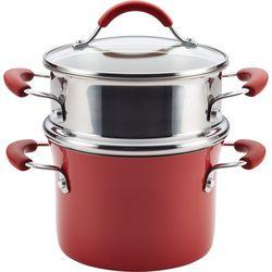 Rachael Ray Cucina 3 qt. Porcelain Steamer Set