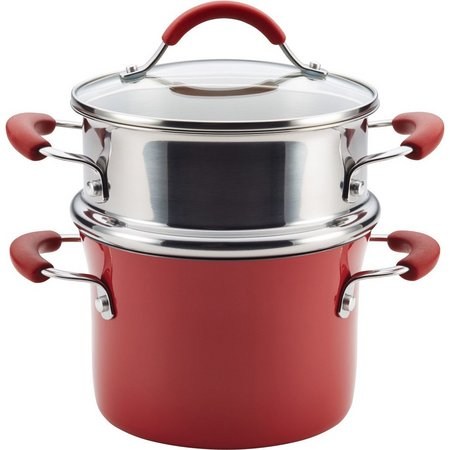 Rachael Ray Cucina 3 qt. Porcelain Steamer Set