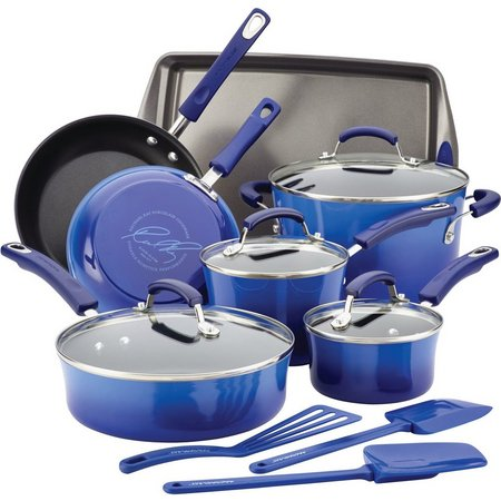 Rachael Ray 14-pc. Hard Enamel Cookware Set