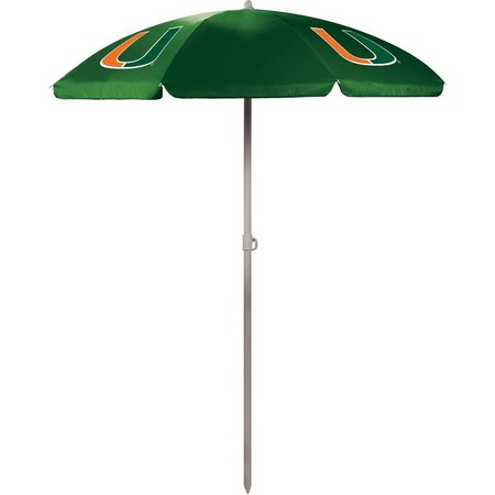 Miami Hurricanes Portable Umbrella by Picnic Time