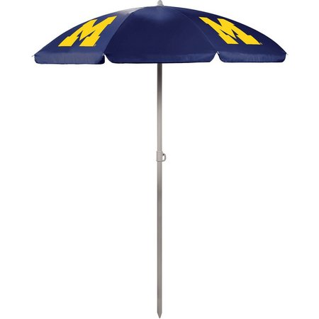 Michigan Wolverines Beach Umbrella by Picnic Time