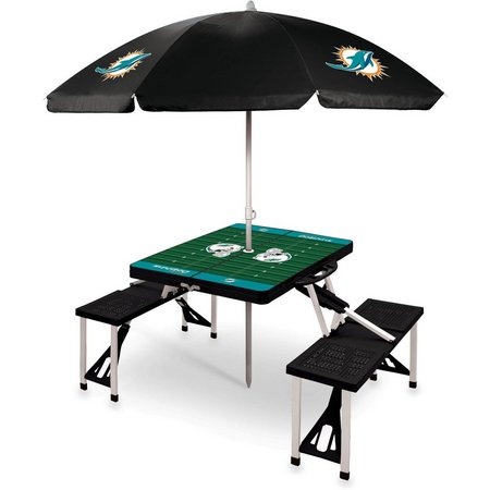 Miami Dolphins Picnic Table and Umbrella