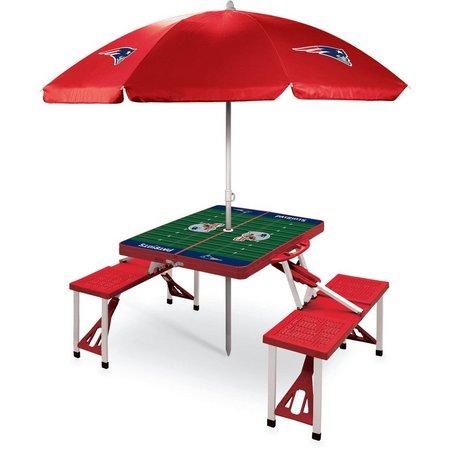 New England Patriots Picnic Table and Umbrella