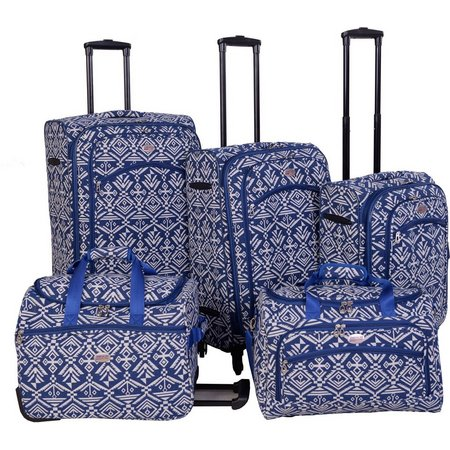 American Flyer 5-pc. Aztec Spinner Luggage Set