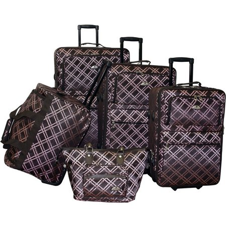 American Flyer 5-pc. Pemberly Buckles Luggage Set