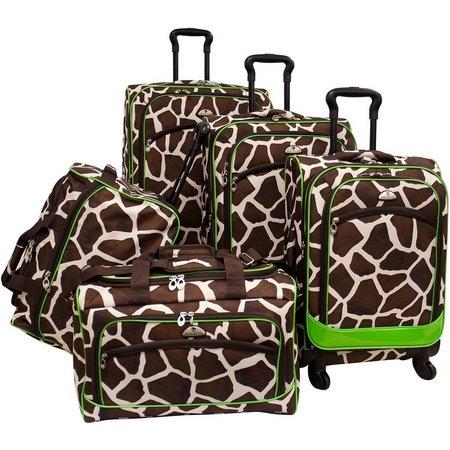American Flyer 5-pc. Giraffe Print Luggage Set